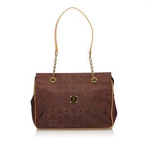 MCM Visetos Chain Tote Bag