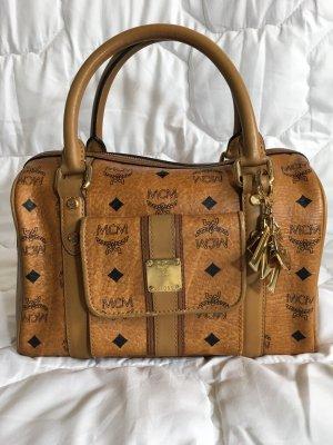 MCM Visetos Cognac Bag