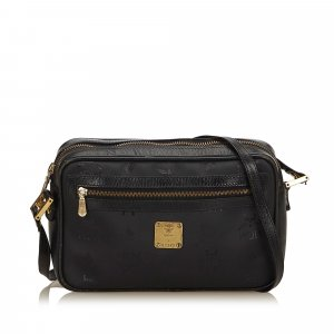 MCM Crossbody bag black polyvinyl chloride