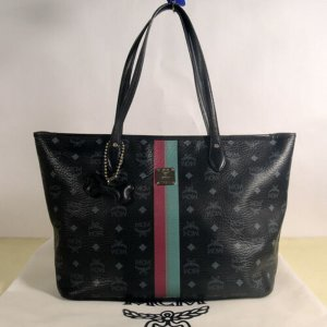 MCM Visetos Dog bone Black Shopper Bag + Staubbeutel