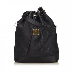 MCM Visetos Drawstring Bucket Bag