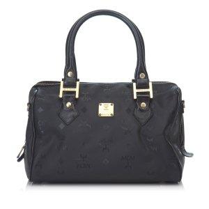 MCM Handbag black polyvinyl chloride