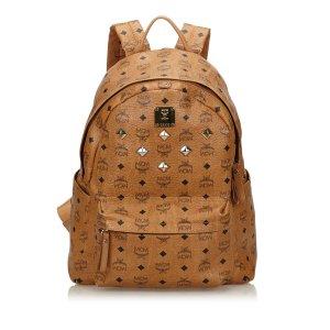 MCM Visetos Leather Backpack