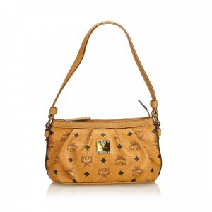 MCM Visetos Leather Baguette