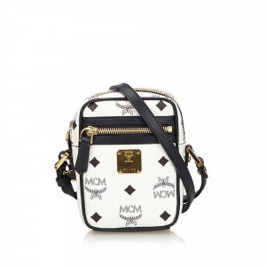 MCM Visetos Leather Crossbody Bag
