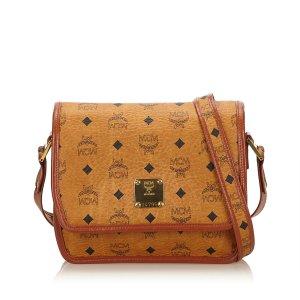 MCM Visetos Leather Crossbody Bag