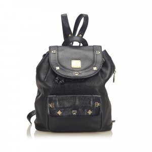 MCM Backpack black leather