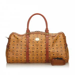 MCM Travel Bag brown leather