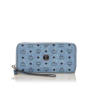 MCM Visetos Leather Long Wallet