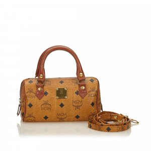 MCM Satchel brown leather