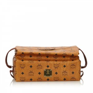 MCM Visetos Leather Pouch