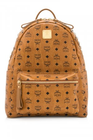 MCM Visetos Leather Stark Backpack