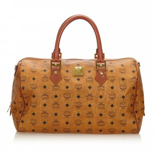 MCM Visetos Leather Travel Bag