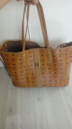 MCM visetos liz reversible Shopper Large cognac