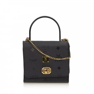 MCM Visetos Mini Chain Handbag
