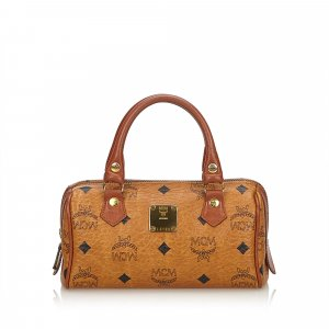 MCM Visetos Mini Leather Satchel