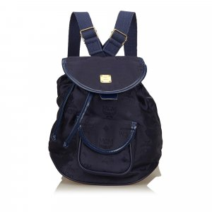 MCM Backpack blue nylon