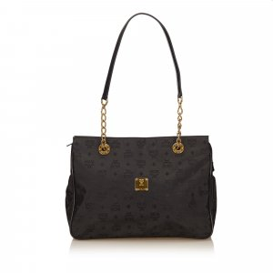 MCM Visetos Nylon Chain Tote Bag