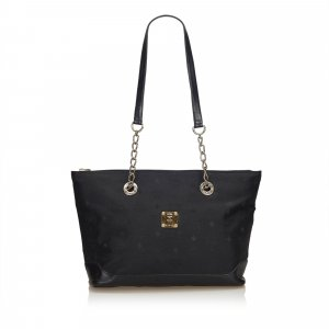 MCM Visetos Nylon Chain Tote Bag