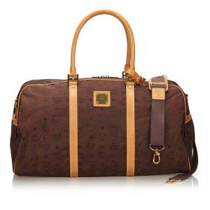 MCM Visetos Nylon Travel Bag