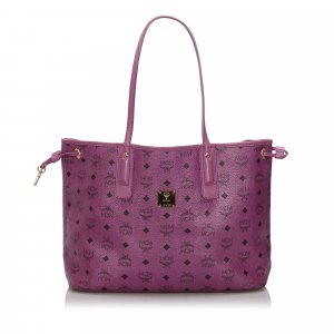 MCM Visetos Reversible Leather Tote Bag