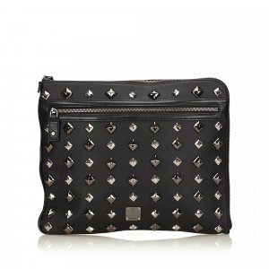 MCM Visetos Studded Clutch Bag