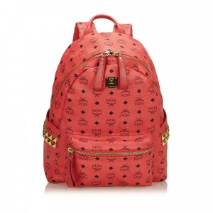 MCM Visetos Studded Leather Backpack
