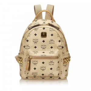MCM Backpack beige leather