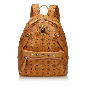 MCM Visetos Studded Leather Backpack