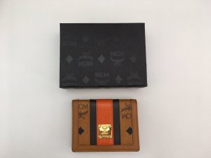 MCM Wallet cognac-coloured-dark orange leather