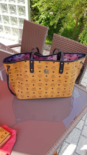 MCM Shopper bronze-colored imitation leather