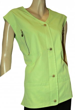 MCM Sports Vests neon green acetate