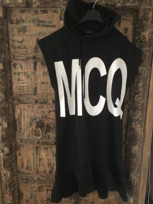 Alexander McQueen Hooded Dress white-black
