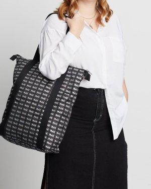 Alexander McQueen Shopper noir-blanc nylon