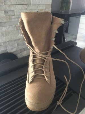Lace-up Boots dark yellow