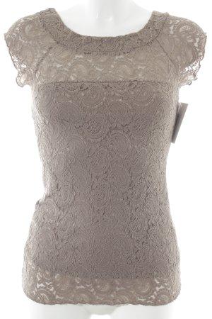 Me & Me Top di merletto grigio-lilla stile casual
