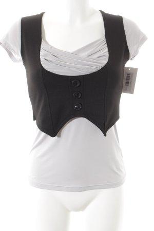 Me & Me T-Shirt hellgrau-schwarz klassischer Stil