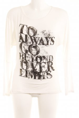 Me & Me Boatneck Shirt printed lettering casual look