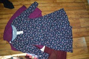Meaneor Damen Kleider Blumenmuster Retro Vintage Langarm Kleidchen Neu