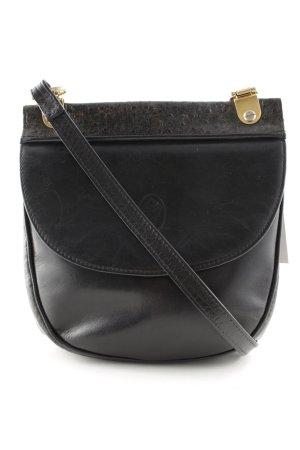 Medici Handtasche schwarz-goldfarben Casual-Look