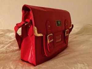 HS Fashion Satchel red-dark red