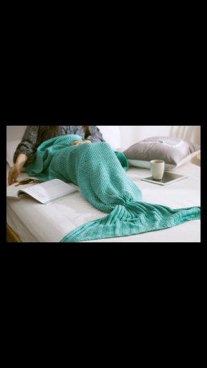 Meerjungfrau Strickdecke mit Flosse Neu