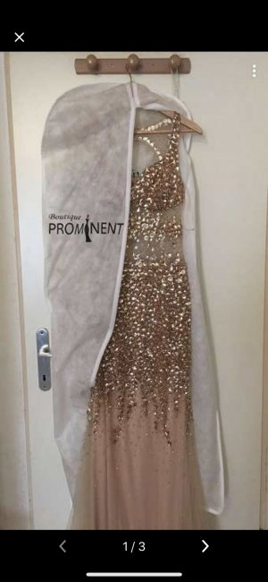 Ball Dress rose-gold-coloured-beige