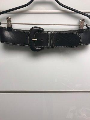 Marc O'Polo Cinturón de cuero negro Cuero