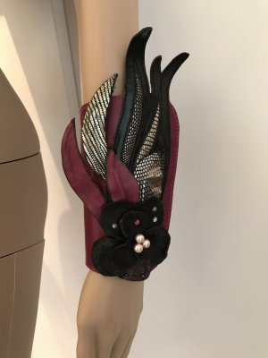 Legwarmers multicolored leather