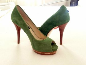 Peep Toe Pumps green