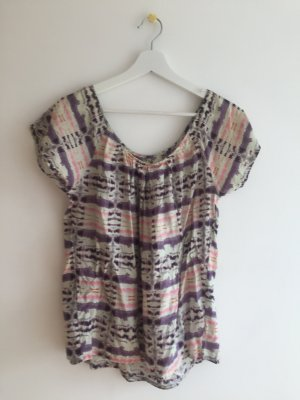 Topshop Top in seta multicolore
