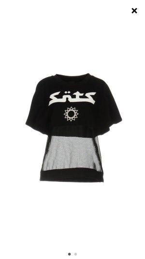 Jersey de manga corta negro-blanco