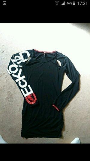 Ecko Vestido cut out negro