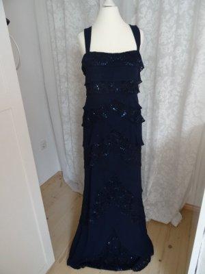Mega Kleid mit Pailletten Dunkelblau mit Jäckchen